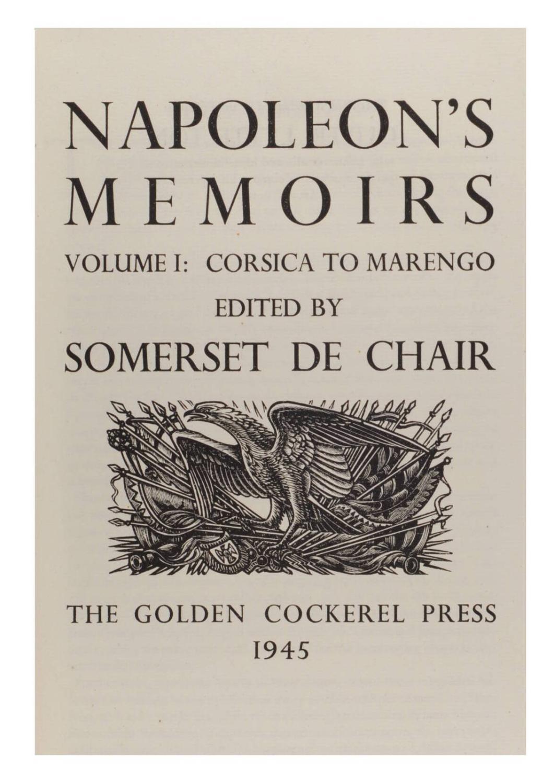 Napoleon's memoirs.